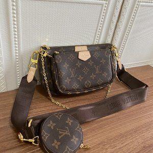 LV Multi Pochette Accessoires Light brown wallets